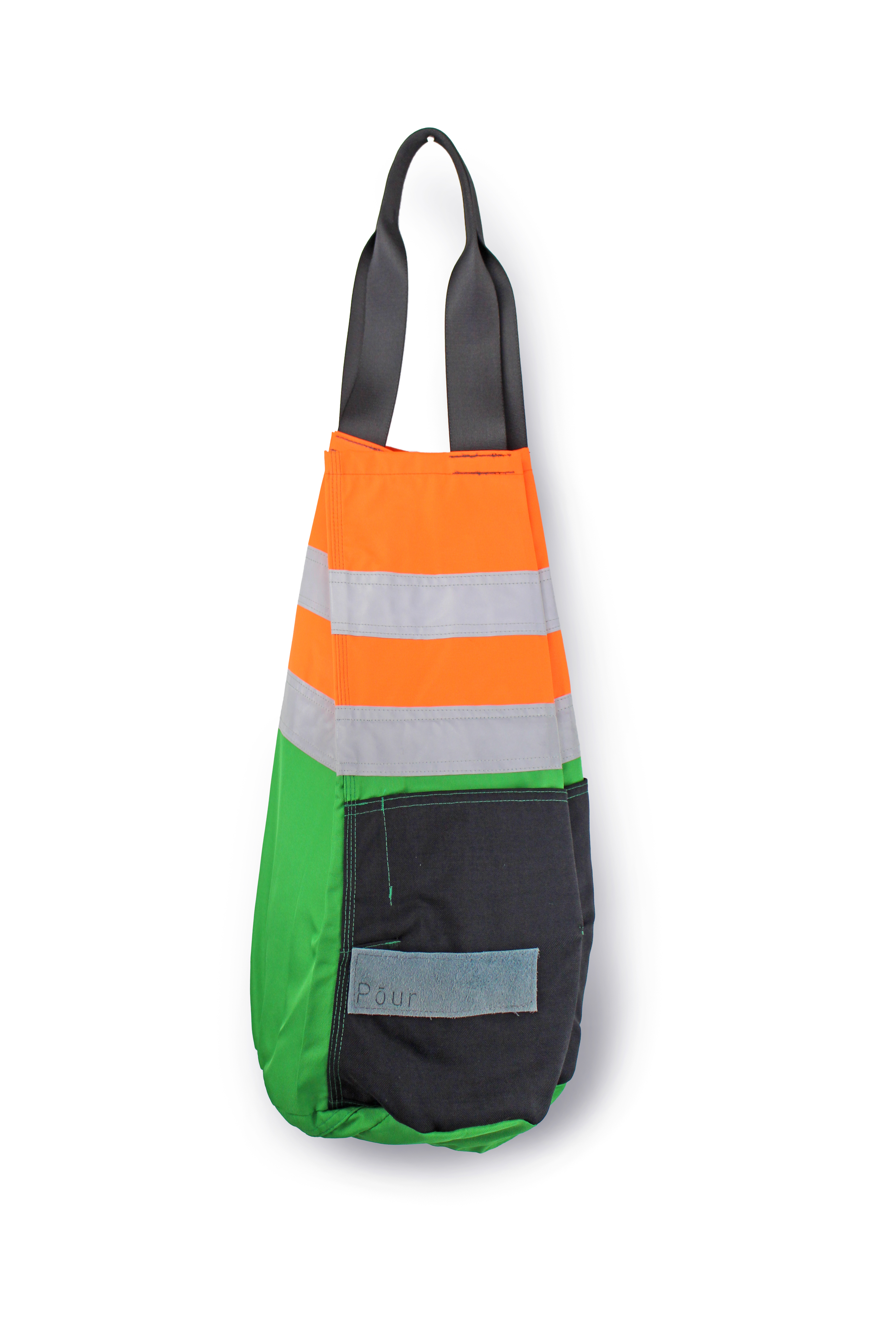 Green Orange Small Apartment Living Room Decor: DITTY BAG Small_ Neon Orange Green